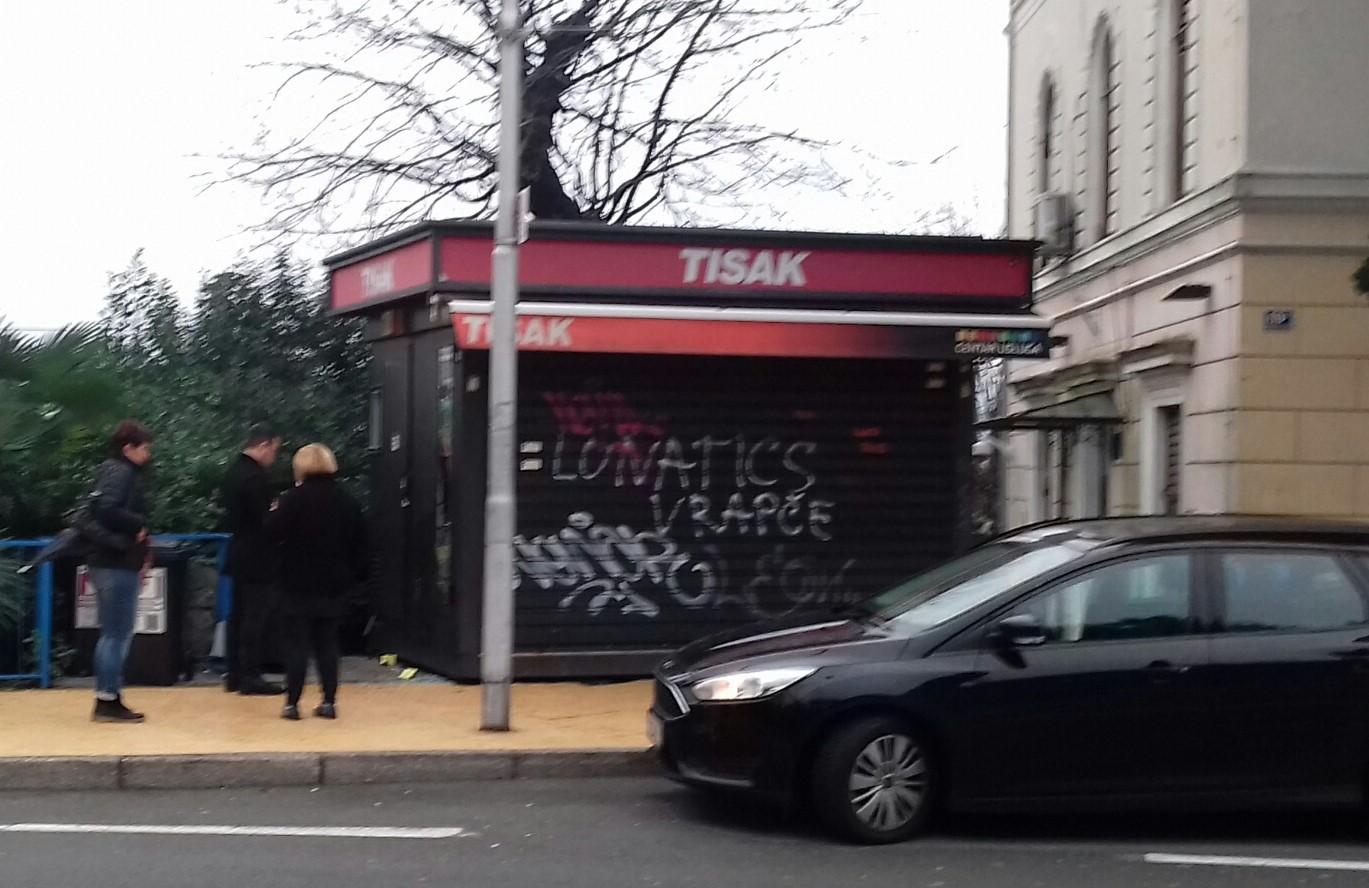Kiosk Tiska koji je bio na meti provalnika / Foto S.A.