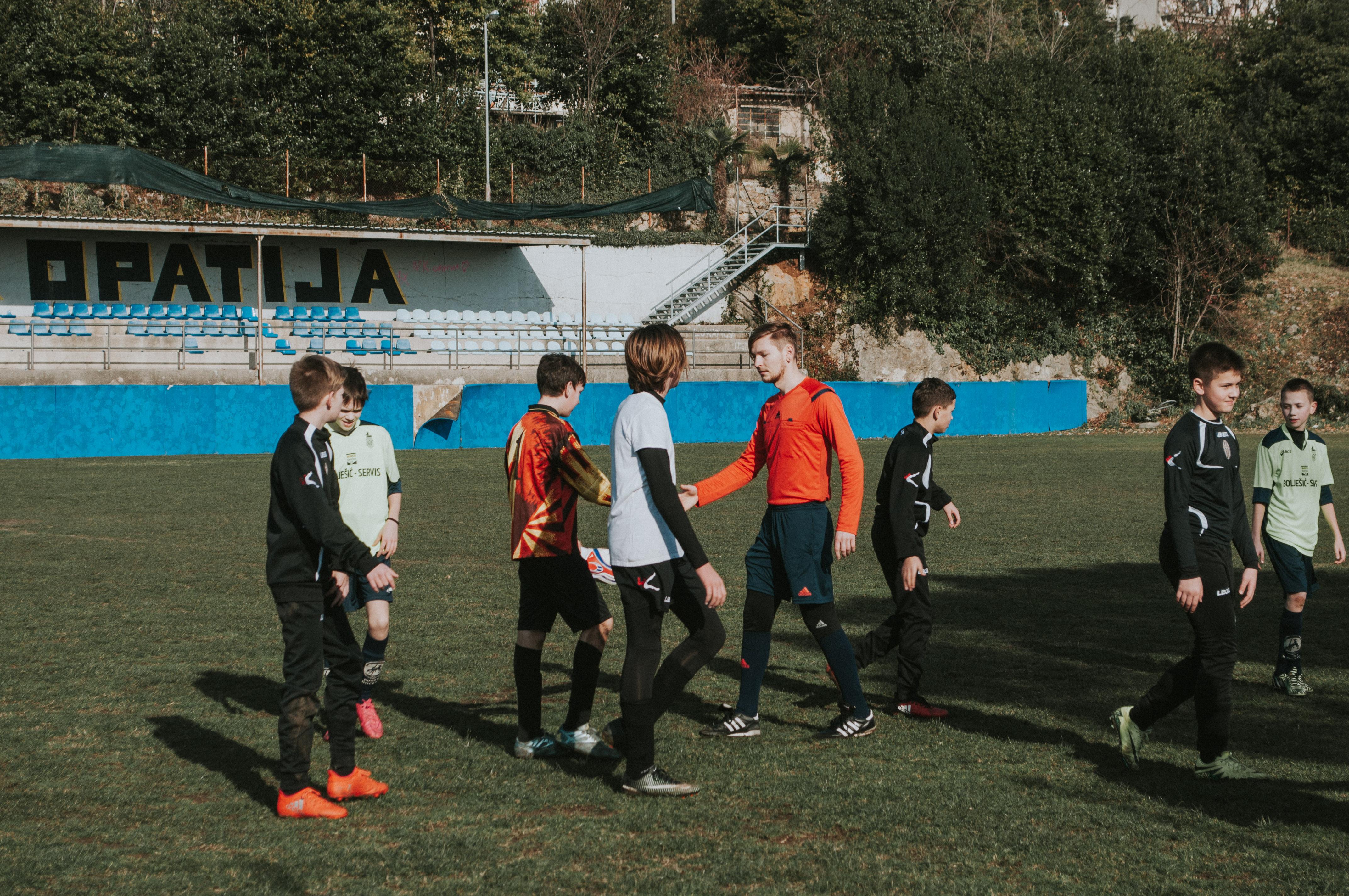 Na travnjaku s nogometašima Opatije