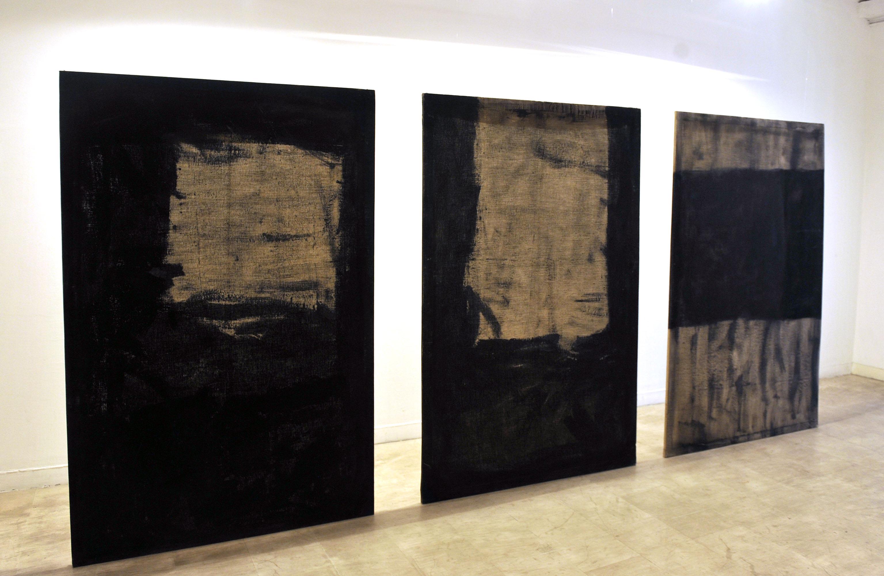 Goran Fruk, »Slikanje, Crnoprozirno I – III«, 1993.