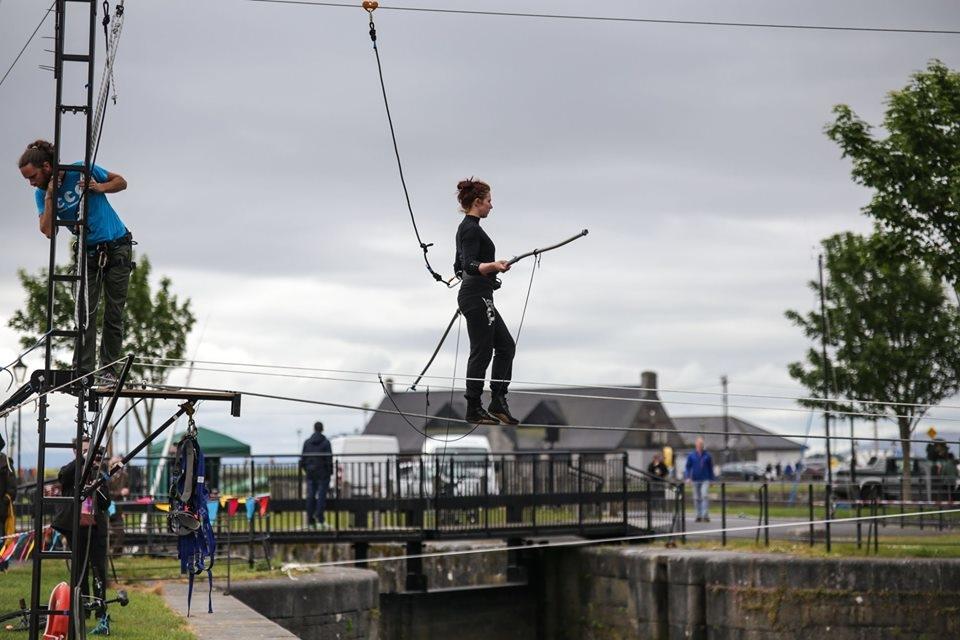Hod na užetu preko rijeke Corrib / Galway 2020
