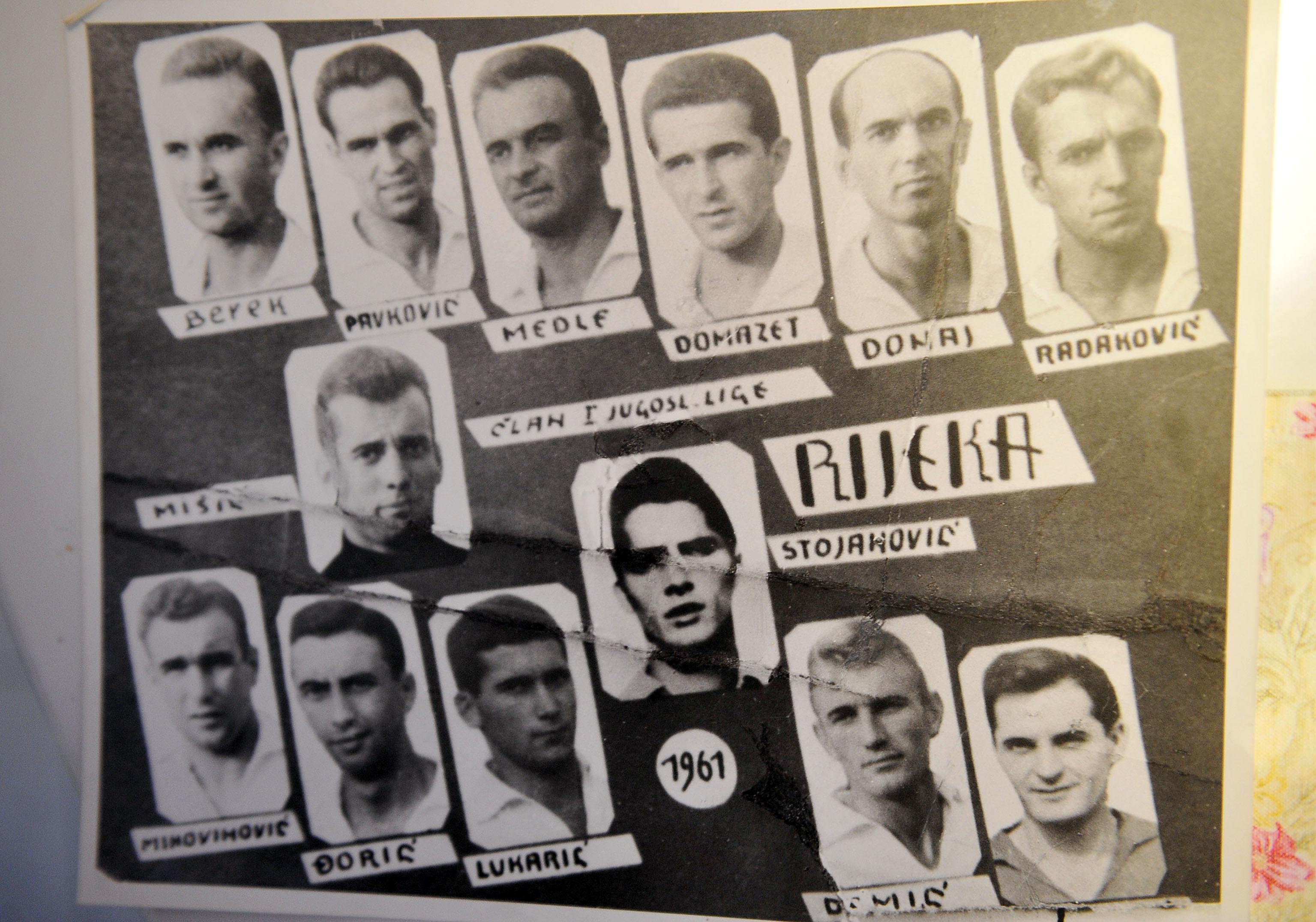 Ekipa Rijeke koja je 1958. godine izborila prvu ligu