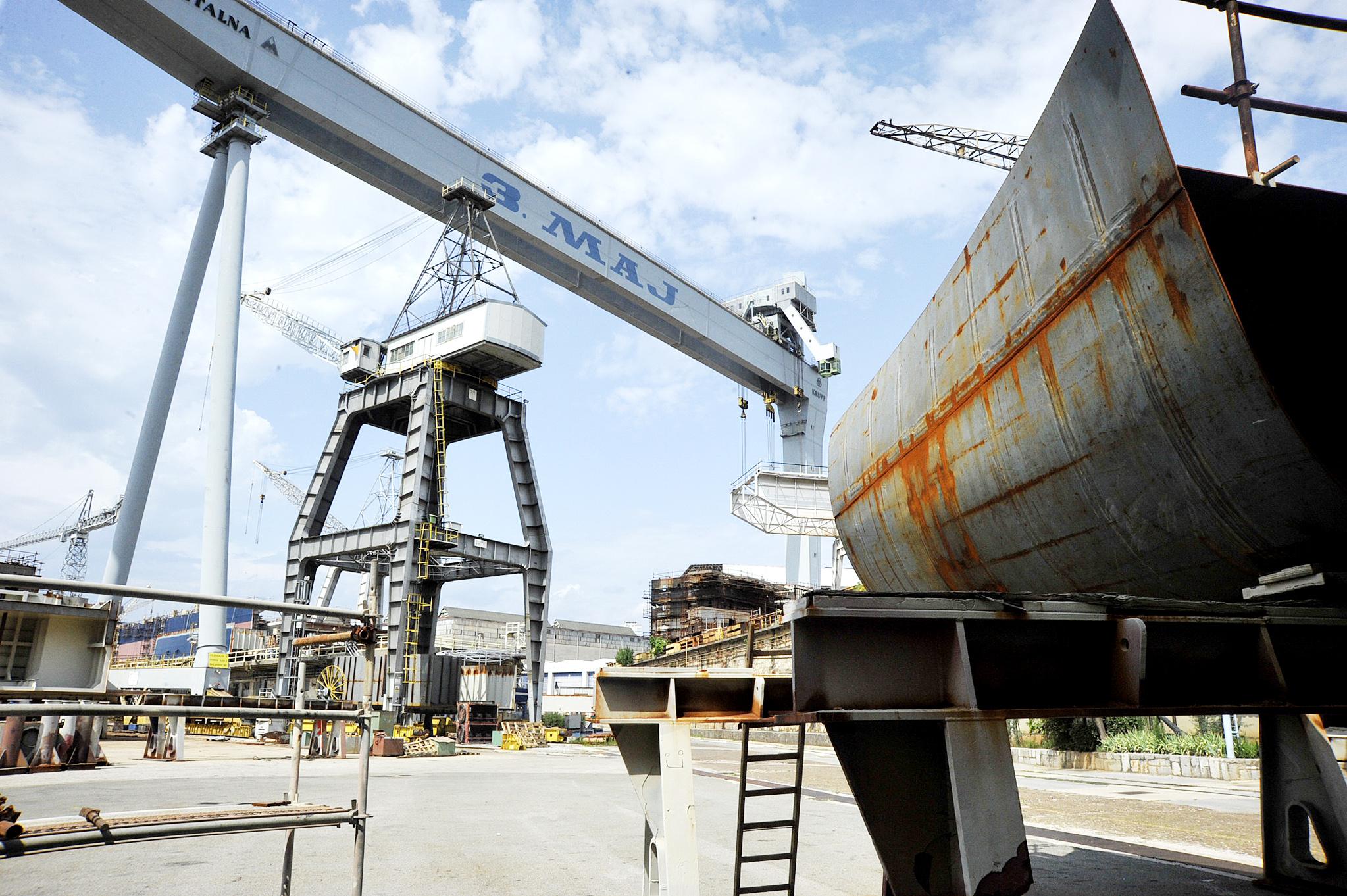 Ukoliko Vlada podrži plan gradnje brodova »3. maj« će ponovo preplaviti radnici / Snimio Sergej DRECHSLER