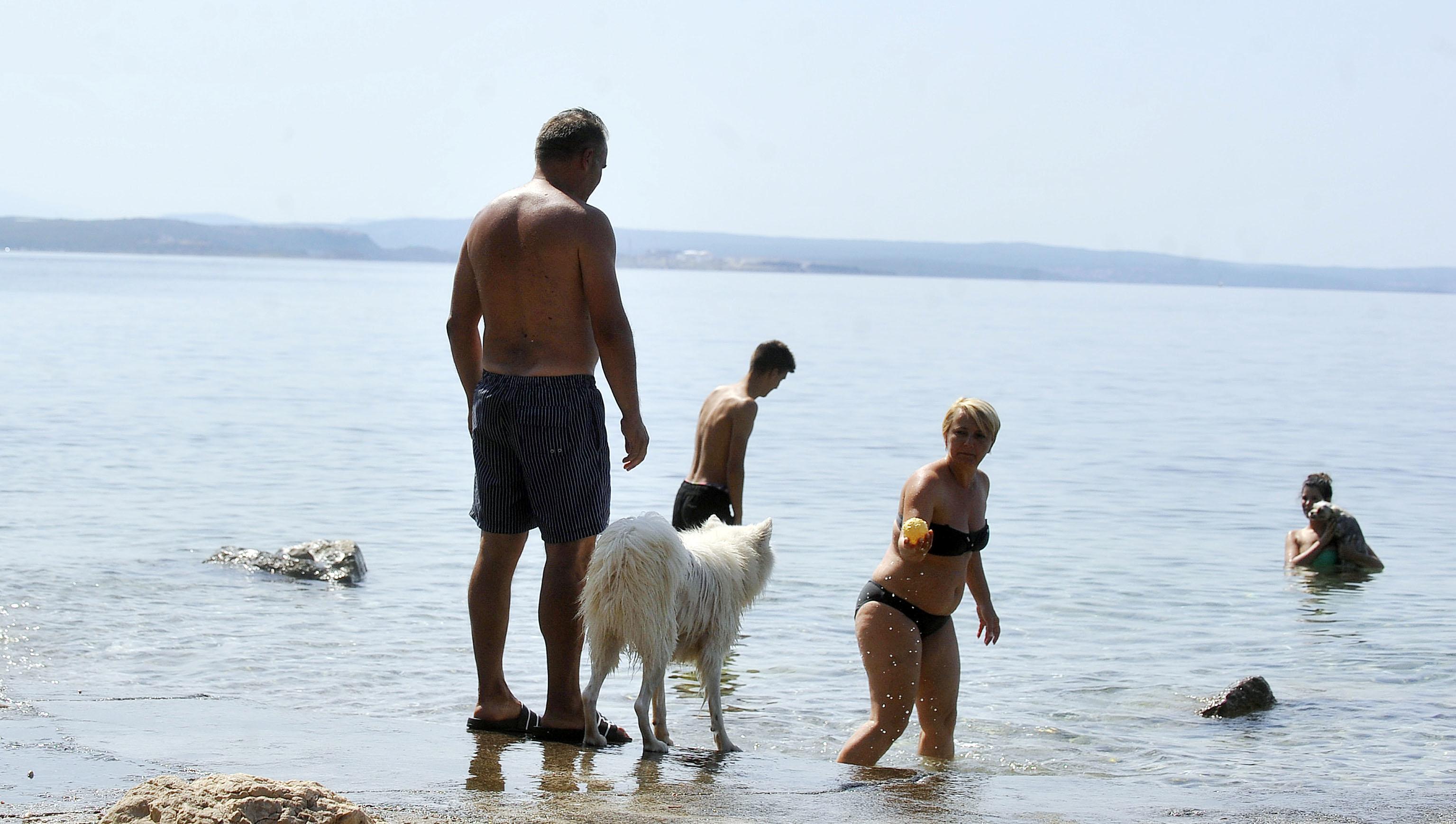 Kostrena: U kostrenskom moru uživaju i psi / Foto Roni BRMALJ