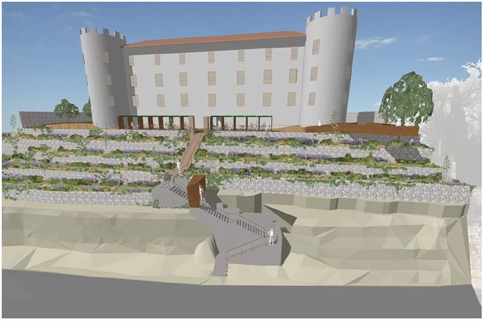 Simulacija budućeg izgleda okoliša dvorca Frankopan
