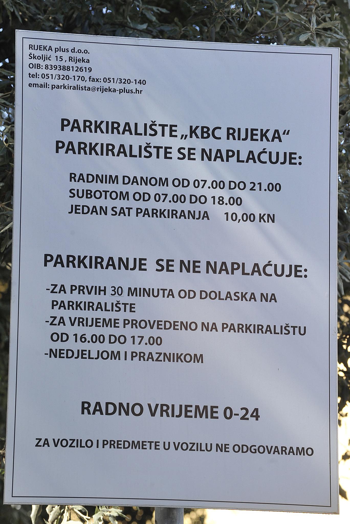 Parkingom kod KBC-a upravlja Rijeka plus / Snimio Sergej DRECHSLER