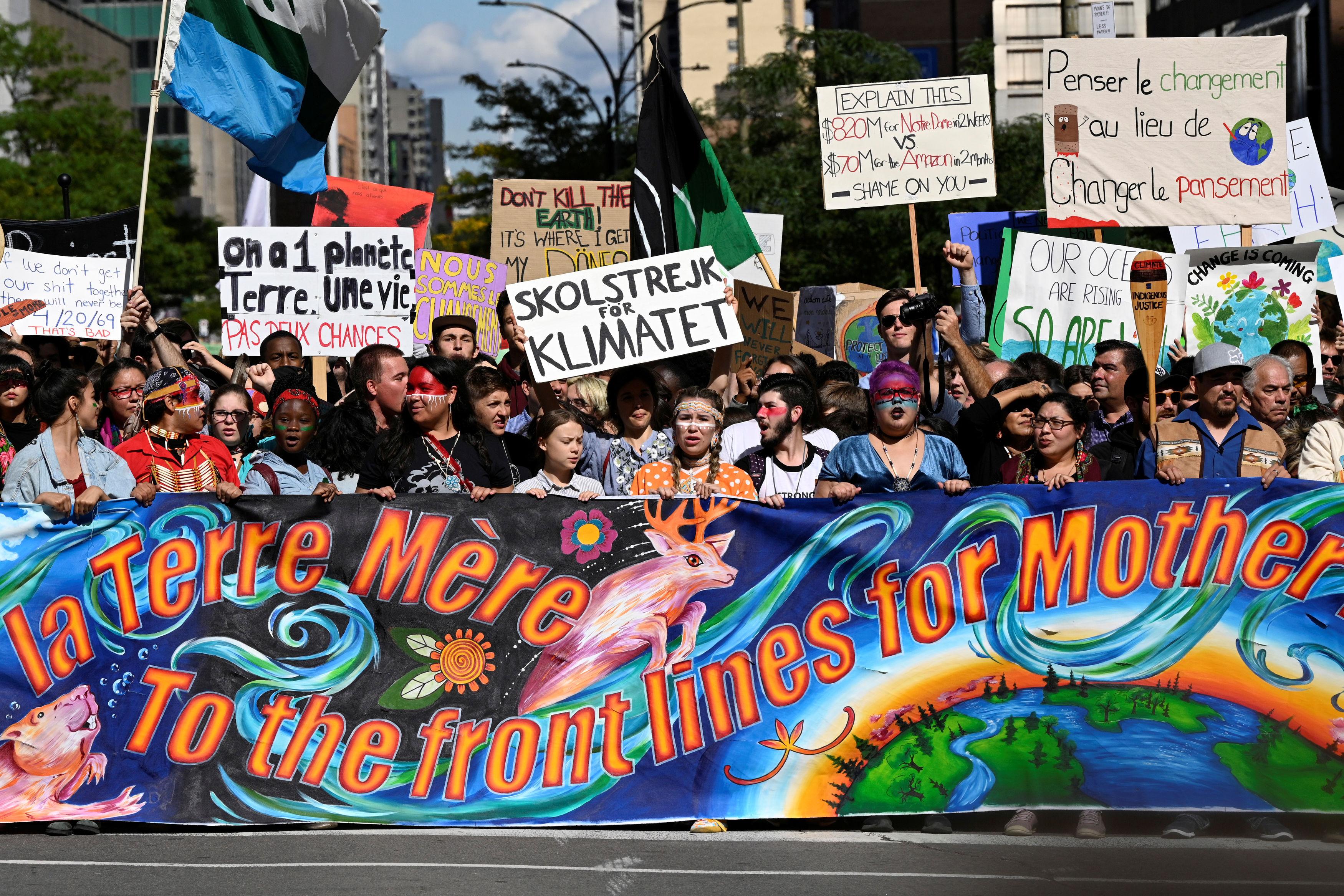 Greta Thunberg i prosvjed za klimu u Montrealu / Reuters