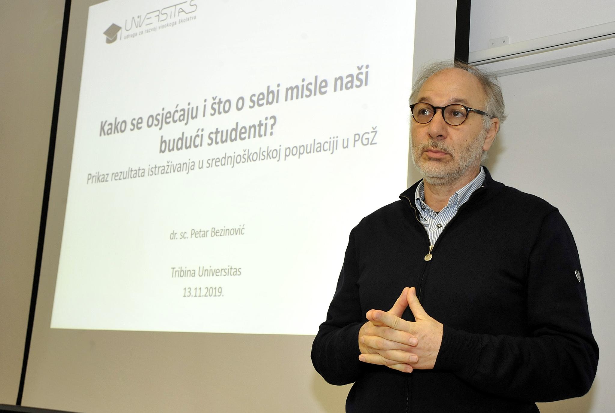 Istraživanje je predstavio prof. dr. Petar Bezinović / Foto S. DRECHSLER