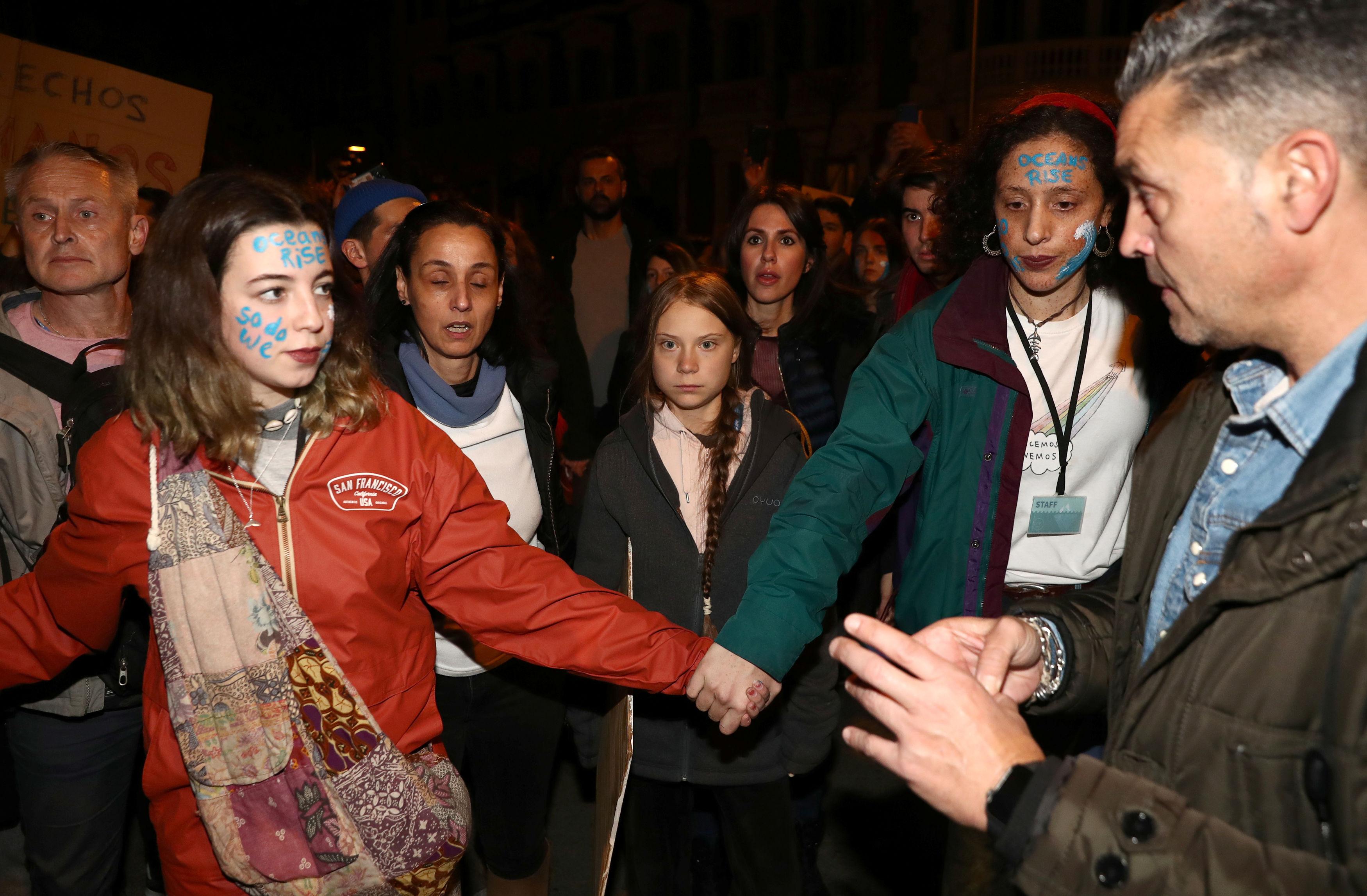 Greta Thunberg na propsvjedu u Madridu / Reuters