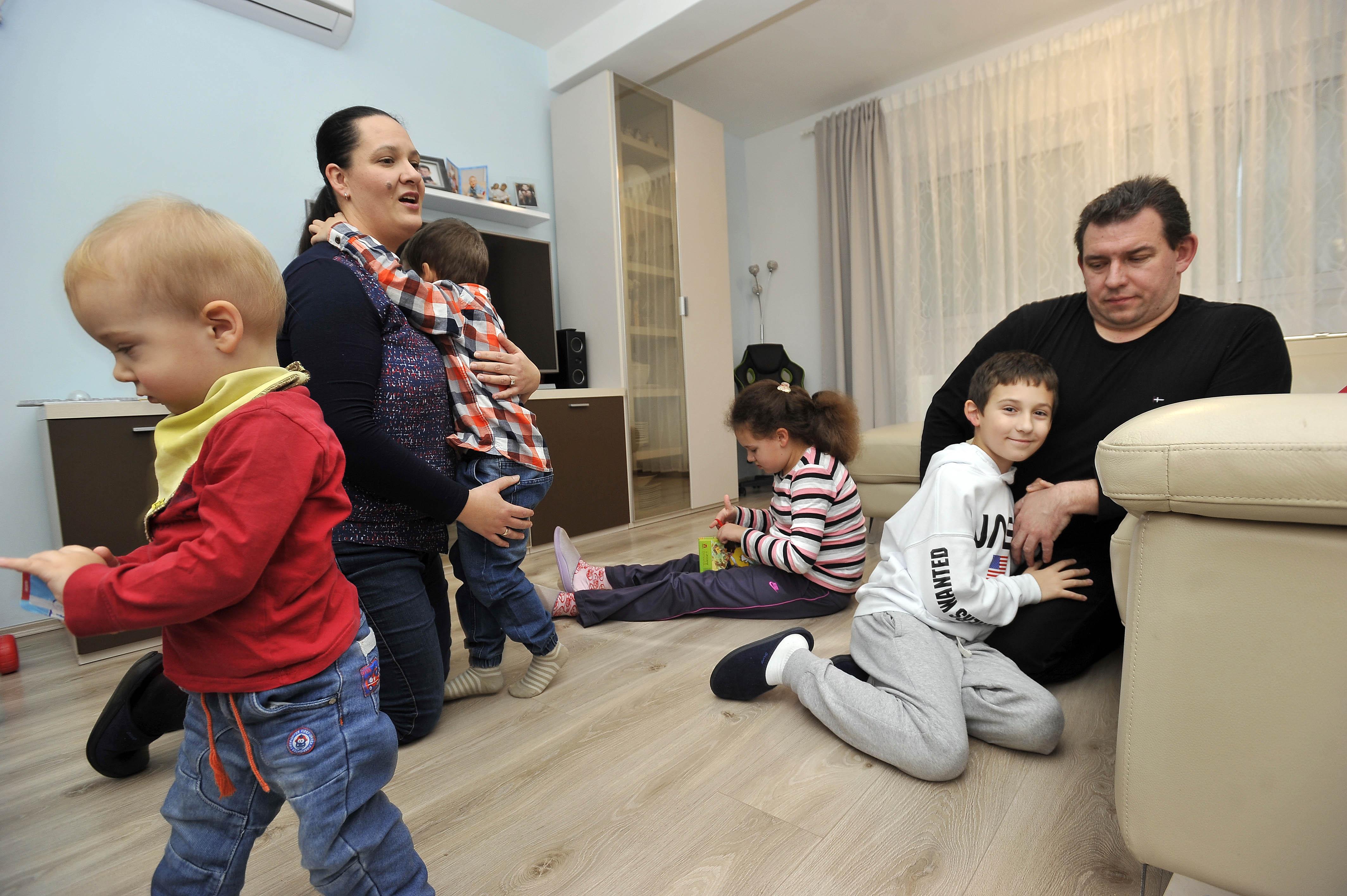 Najvažnije je zajedništvo – obitelj Bunčić na okupu / Foto Davor KOVAČEVIĆ