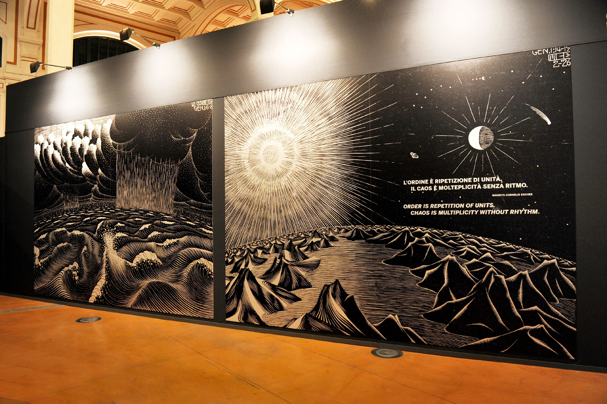 Izložba u Trstu, Maurits Cornelis Escher / Foto GORAN ŽIKOVIĆ/LA VOCE