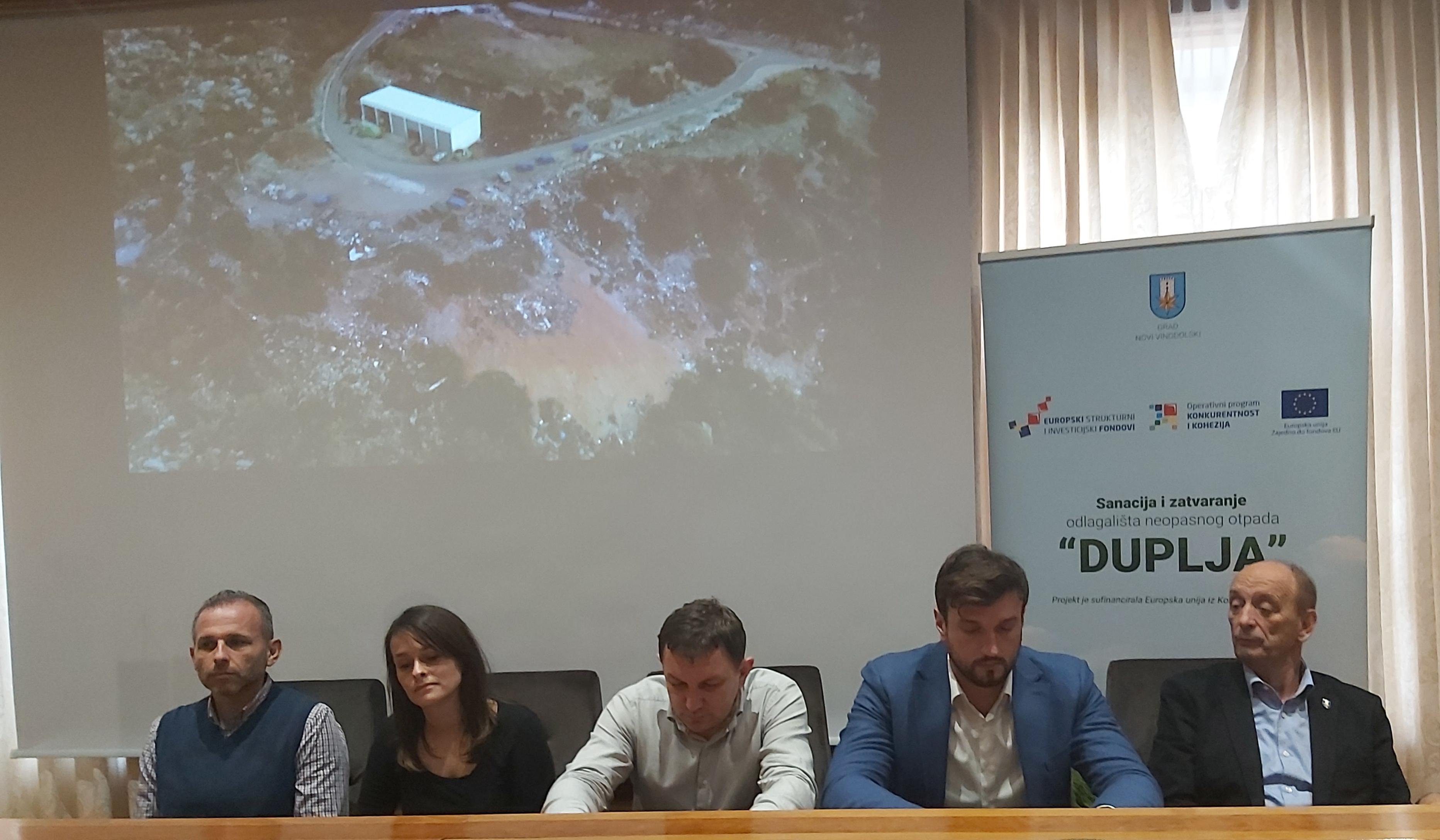 Jučerašnja konferencija za novinare na kojoj je predstavljen projekt sanacije Duplje  / Foto  B. SAVIĆ