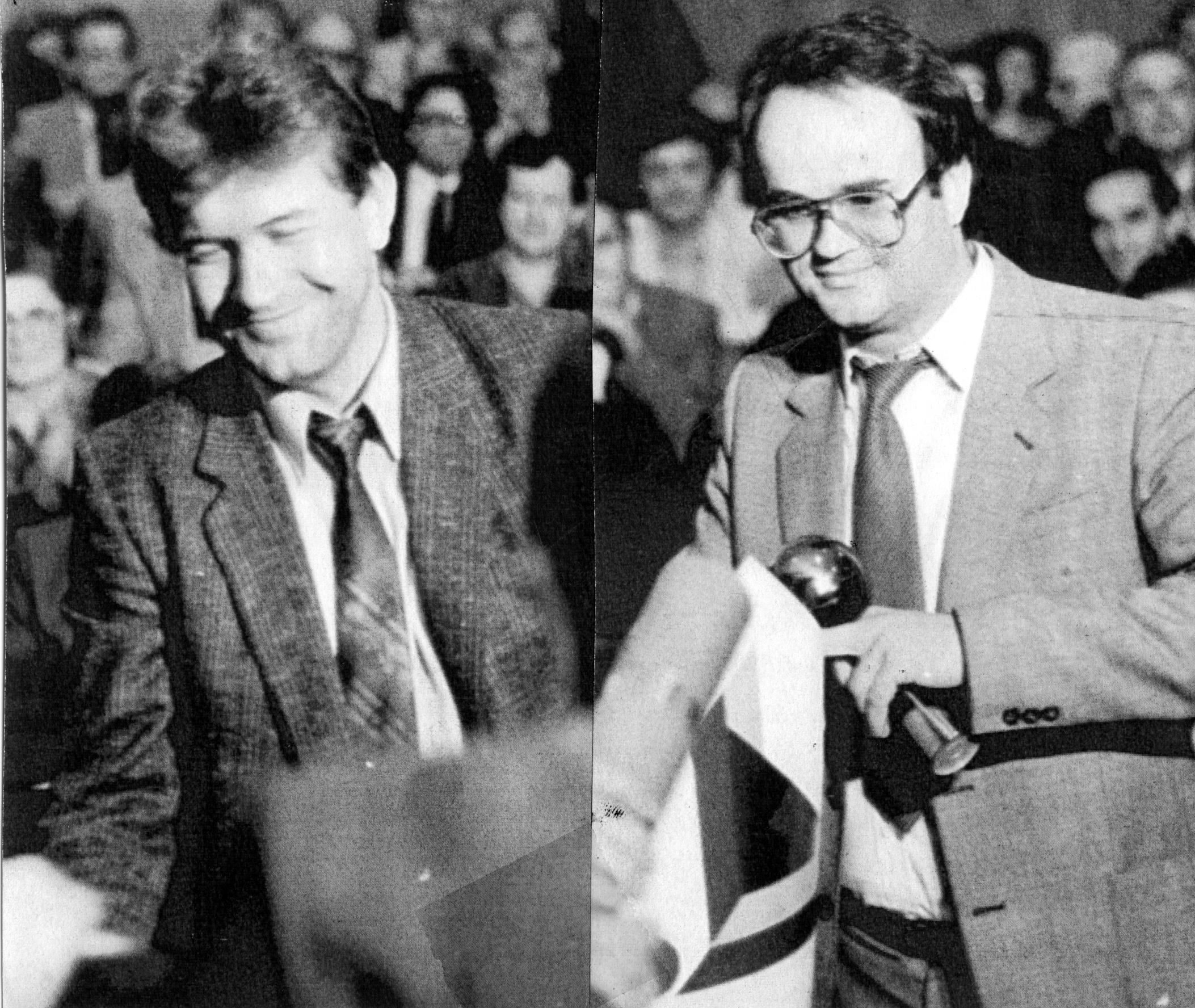 Veljko Vičević na dodjeli Zlatnog pera HND-a 1987. godine za tekstove o aferi Agrokomerc / Foto NL Arhiv