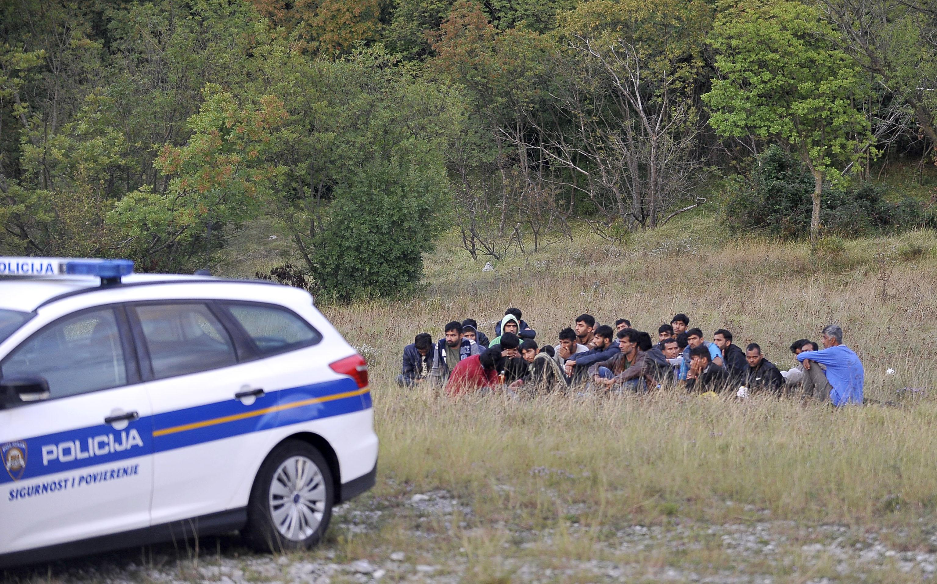 izbjeglice, migranti, imigranti, Grobnik, Snimio Vedran KARUZA