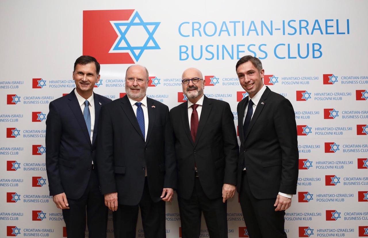 Prof.dr. Dragan Primorac, veleposlanik Robert Kohorst, veleposlanik Ilan Mor, Doc.dr. Saša Missoni
