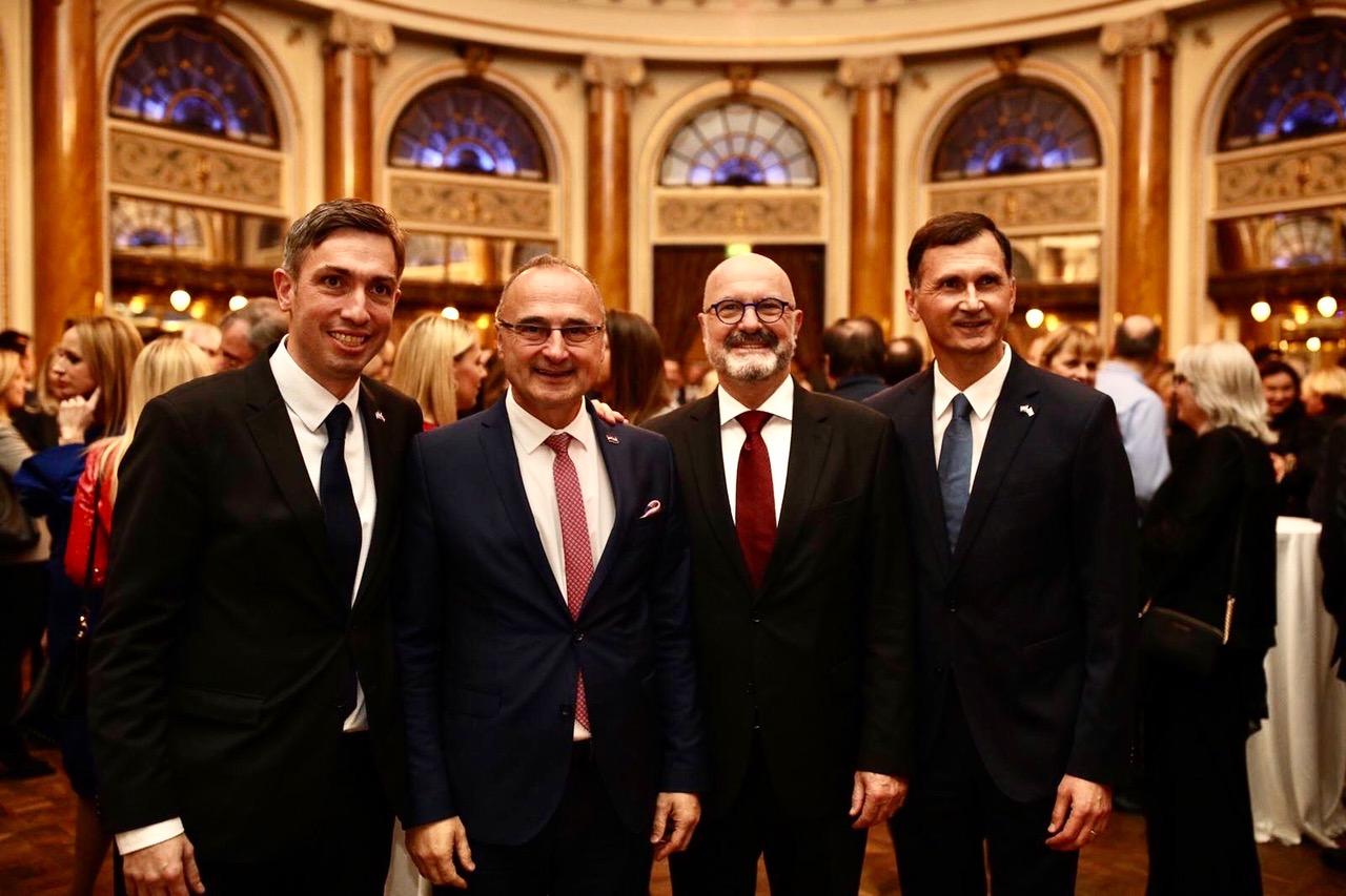 Doc.dr. Saša Missoni, dr.sc. Gordan Grlić Radman ministar vanjskih poslova RH, veleposlanik Ilan Mor, Prof.dr. Dragan Primorac