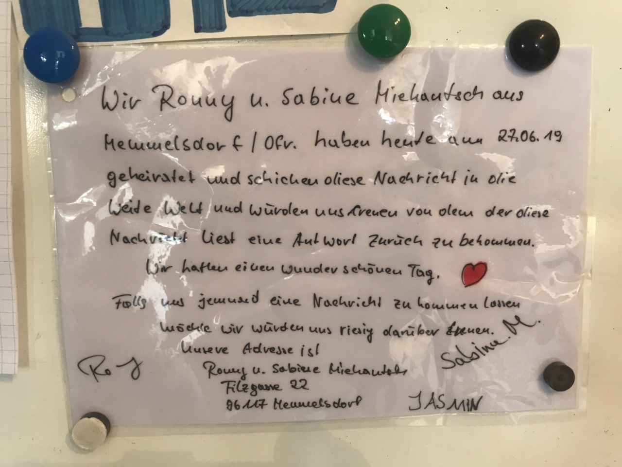 Pismo njemačkih mladenaca