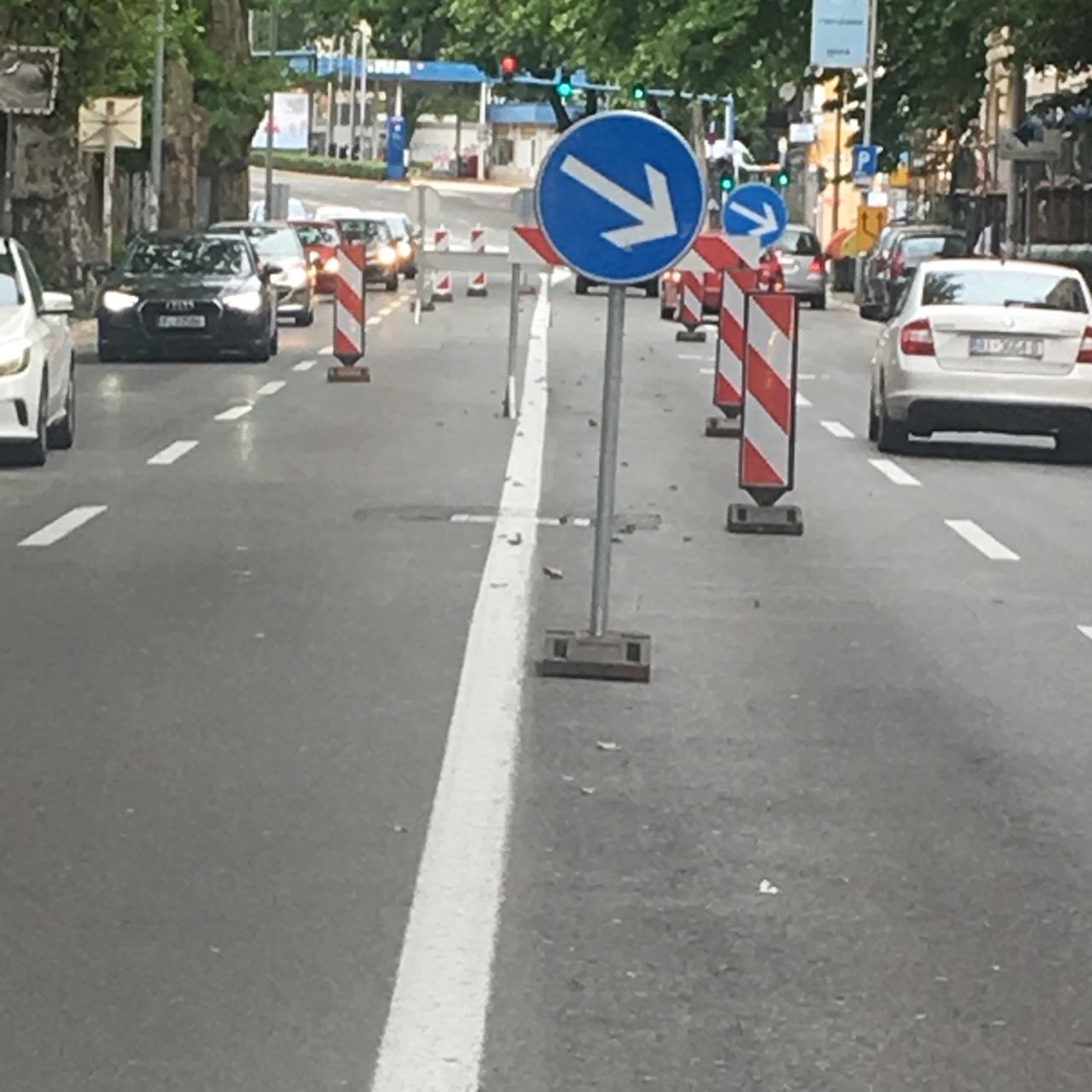 Krešimirova ulica, signalizacija, snimio Ivica TOMIĆ