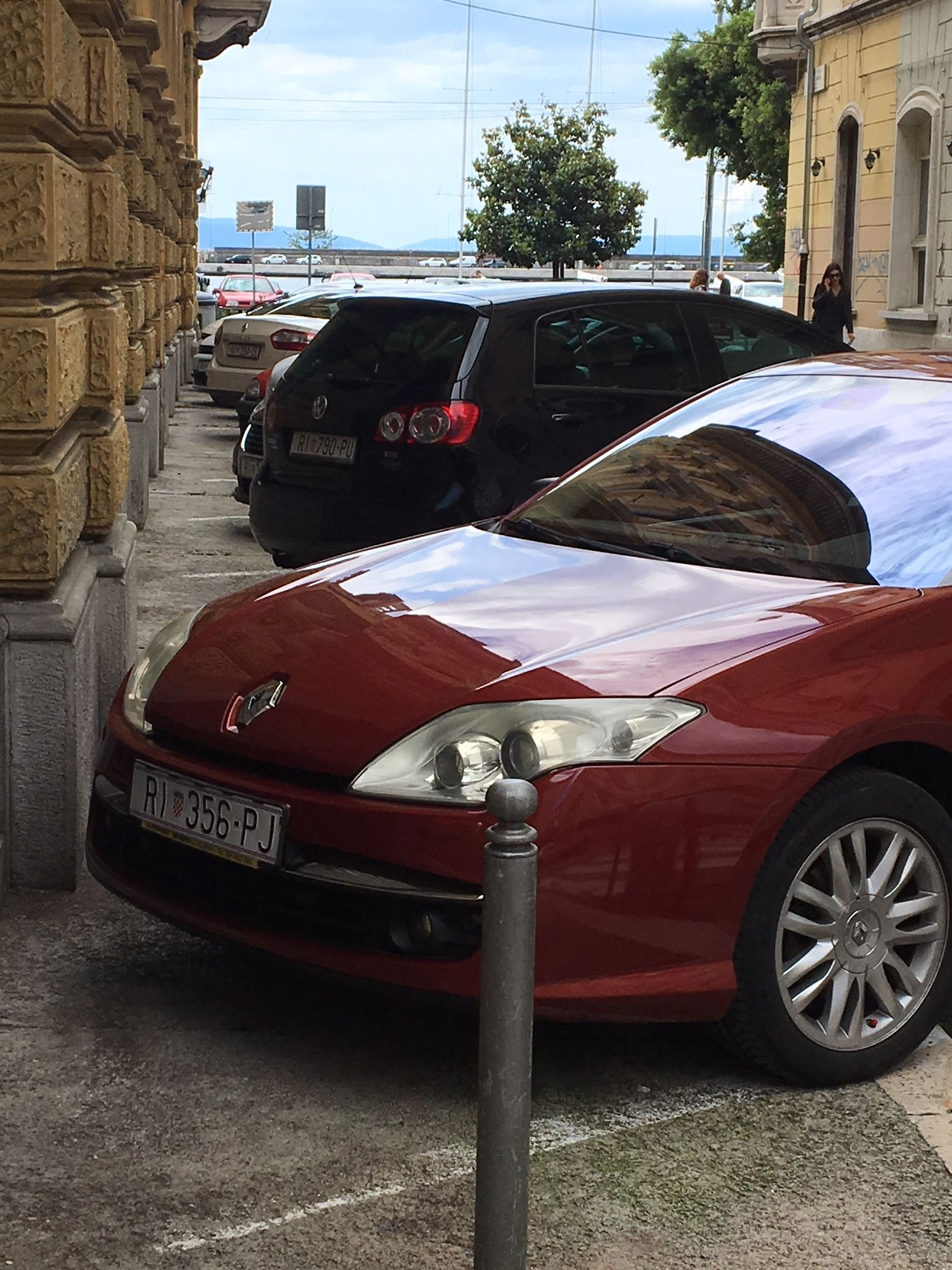 Luka Denona parkirao automobil na županijskom parkiralištu / Snimio Ivica TOMIĆ