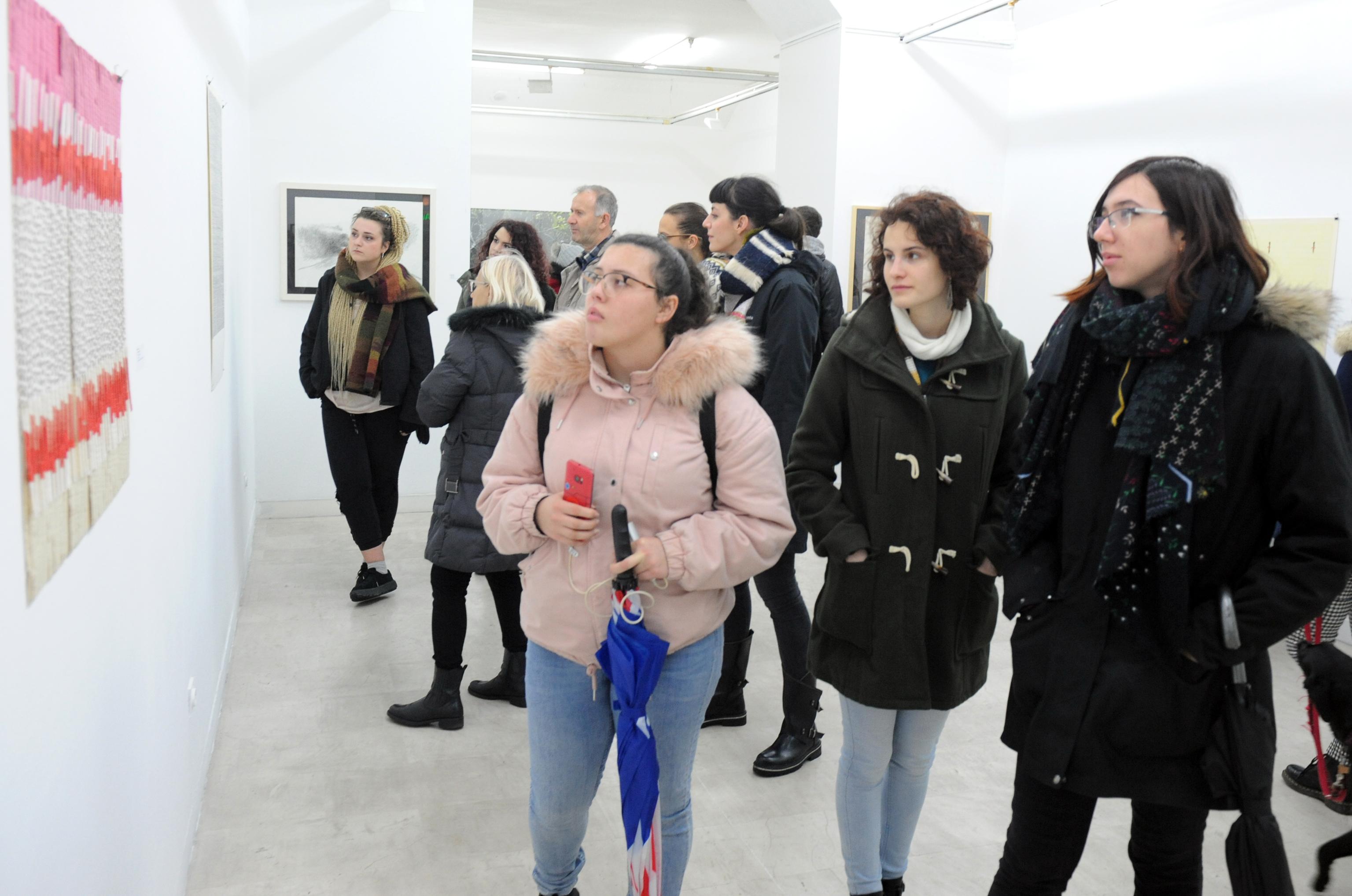 Noć muzeja, Mali salon - izložba »Hommage crtežu«, snimio Marko GRACIN
