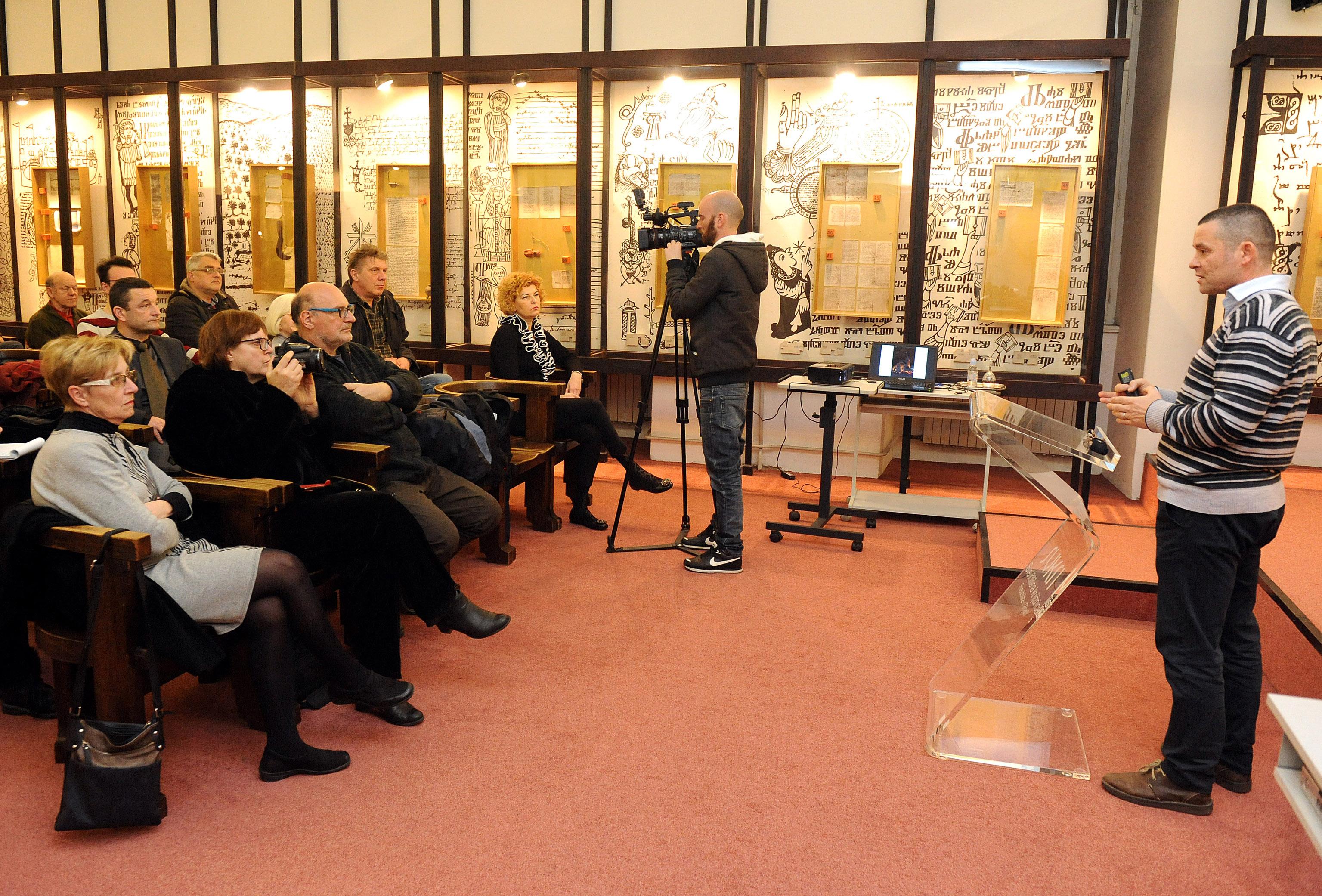 Predavanje o glagoljskoj listini Stjepana Frankopana, snimio Marko GRACIN