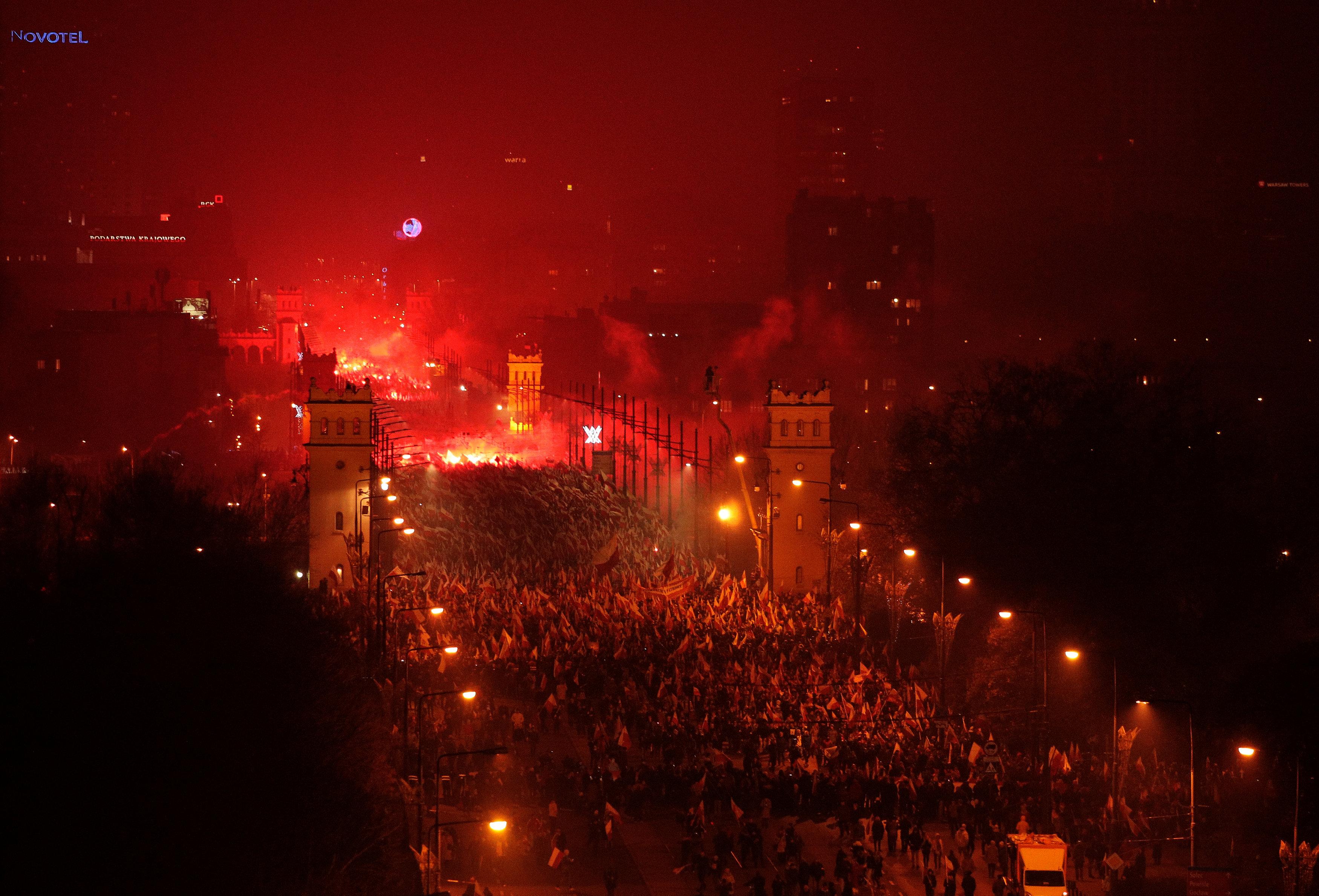 Varšava, Poljska, marš ekstremnih densičara, fašisti, naonacisti, Foto Reuters