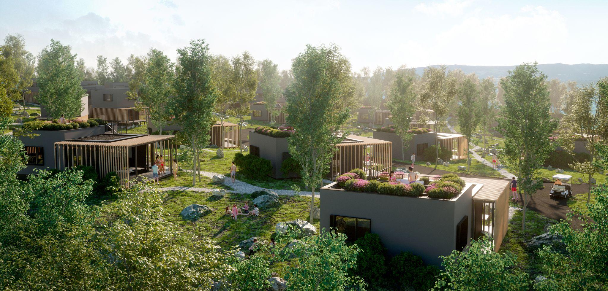 Vizualizacija budućeg izgleda kompleksa vila