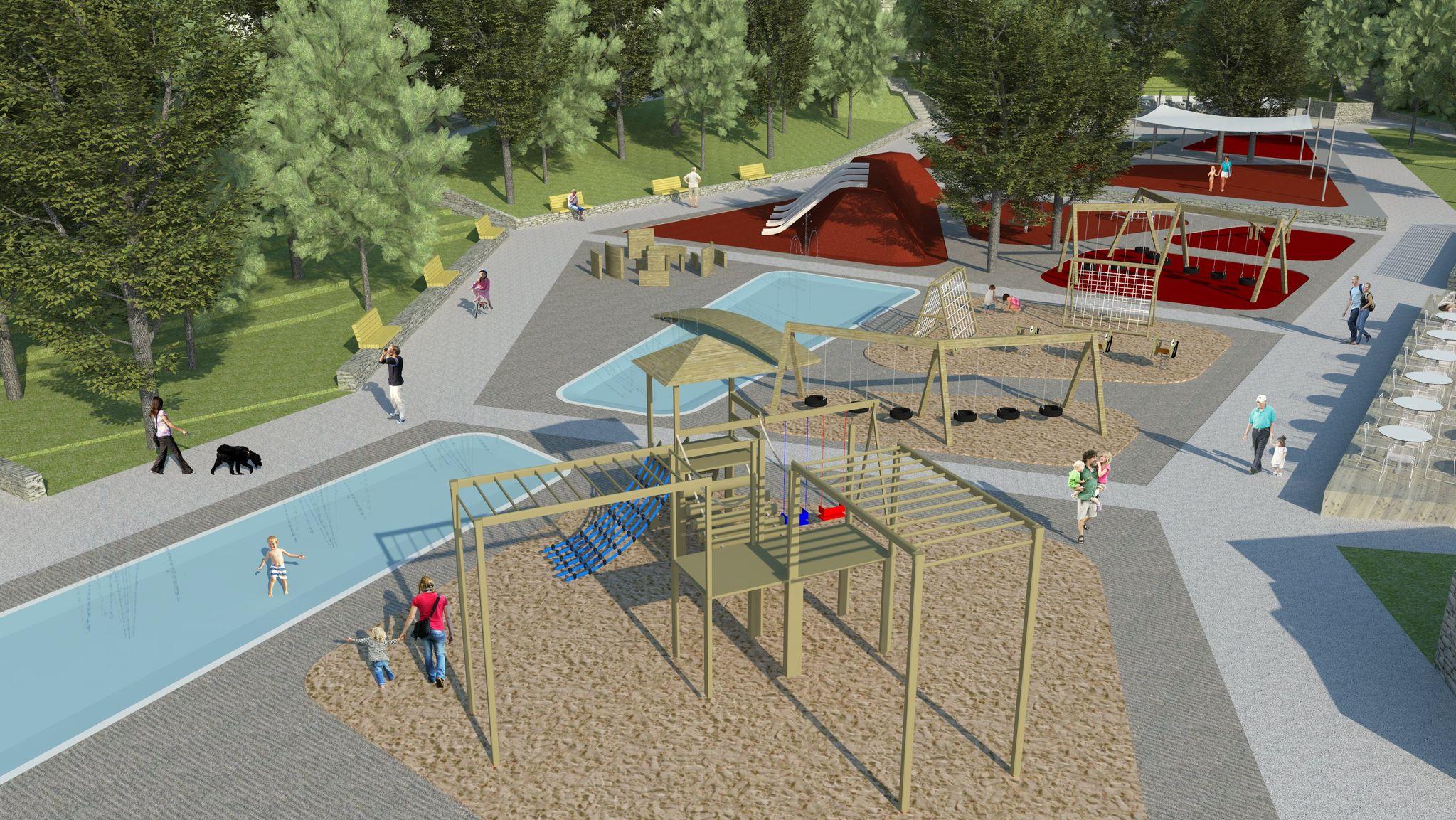 Izgled budućeg centralnog parka u kampu Njivice