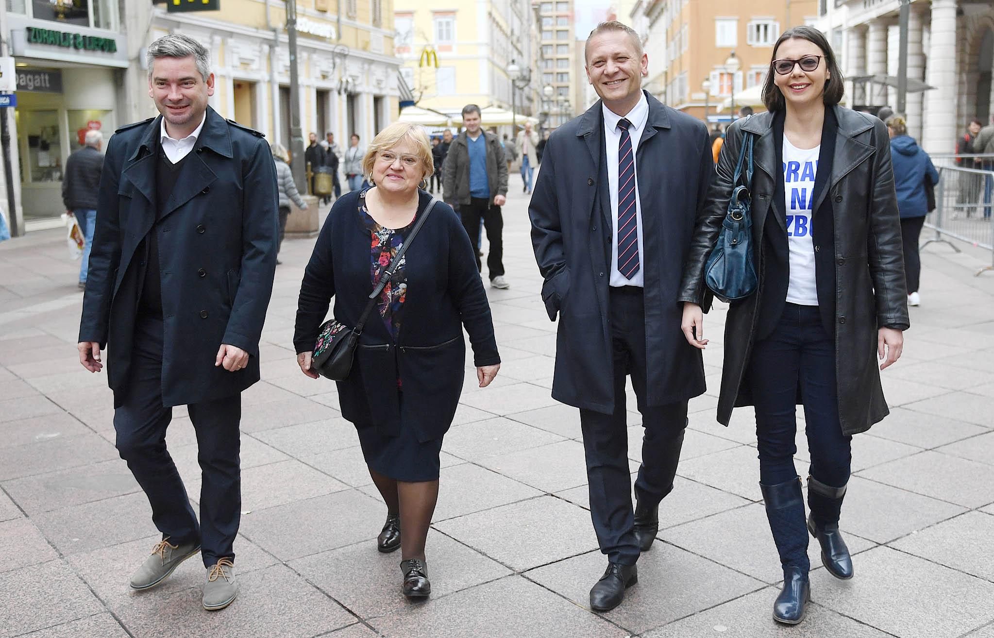 Amsterdamska koalicija, Boris Miletić, Anka Mrak Taritaš, Krešo Beljak i Tea Mičić, snimio Ivica TOMIĆ