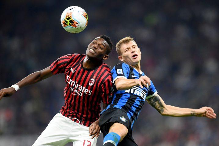 Detalj s utakmice nogometaša Intera i Milana/Foto REUTERS