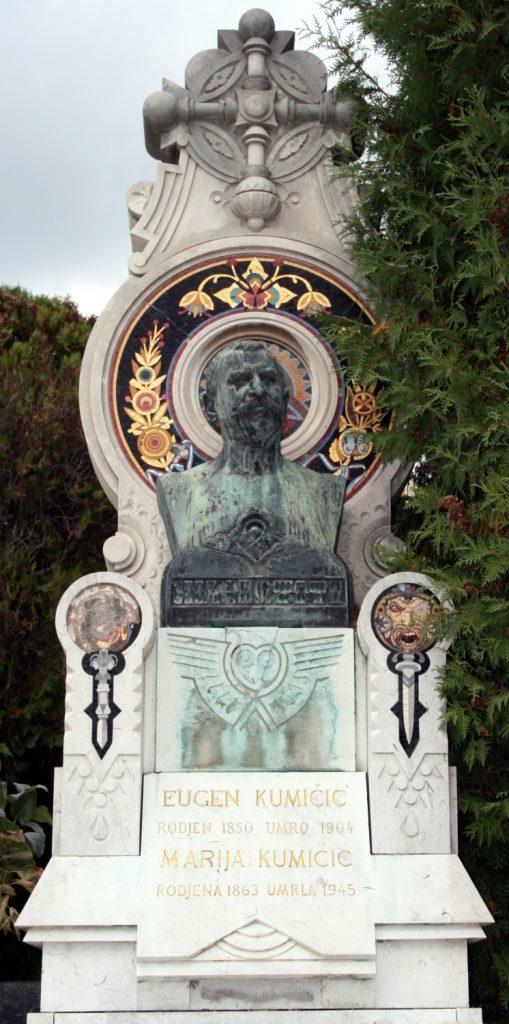 Grob Eugena Kumičića na Mirogoju