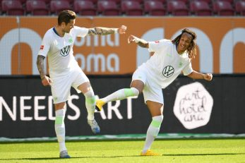 Slavlje igrača Wolfsburga/Foto REUTERS
