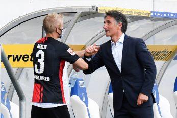 Bruno Labbadia i Per Skjelbred tijekom ogleda s Hoffenheimom/Foto REUTERS