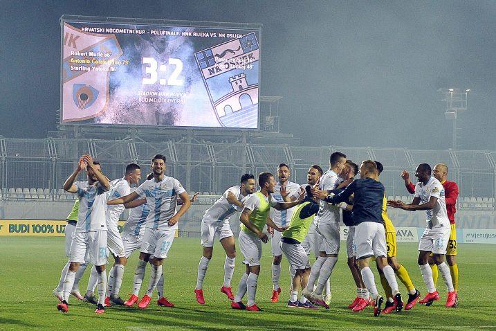 Veliko slavlje nogometaša Rijeke nakon utakmice/R. BRMALJ