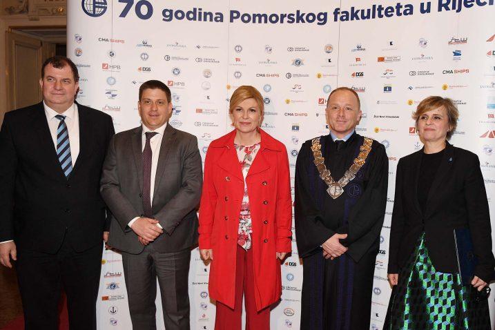 Jakov Kitarović, Oleg Butković, Kolinda Grabar-Kitarović, Alen Jugović i Snježana Prijić Samaržija / Foto: I. TOMIĆ