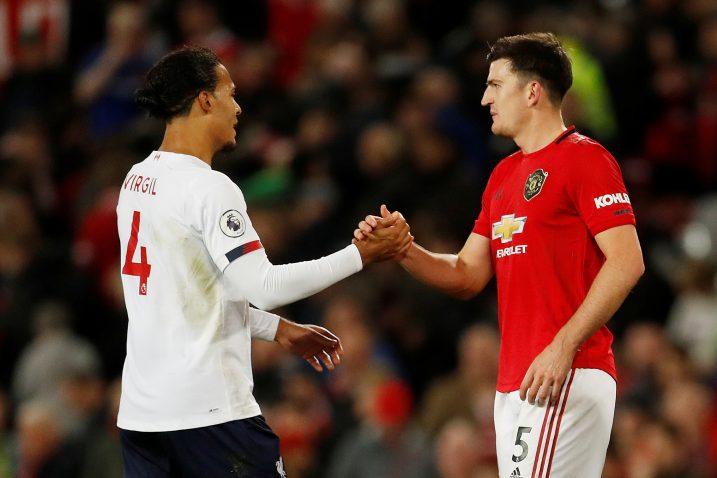 Virgil van Dijk (Liverpool) i Harry Maguire (Manchester United)/Foto REUTERS