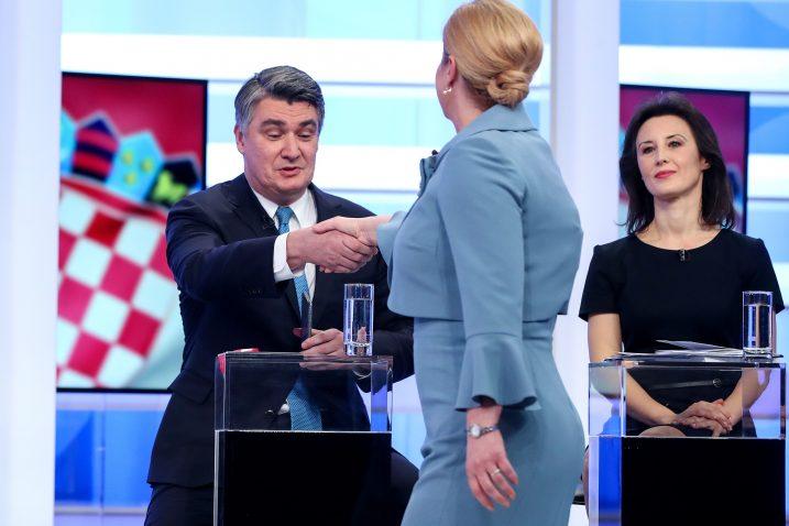 Analitičari smatraju da u nadmetanju Kolinde Grabar-Kitarović i Zorana Milanovića SDP-ov kandidat ima bolje izglede / Foto I. KRALJ/PIXSELL