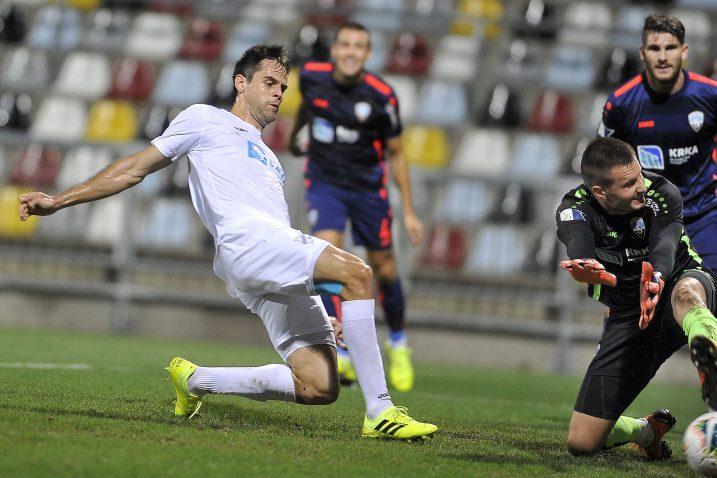 Franko Andrijašević postigao je jedini pogodak na utakmici/Foto D. ŠKOMRLJ
