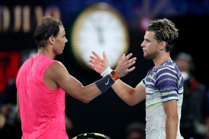 Rafa Nadal i Dominic Thiem/Foto REUTERS