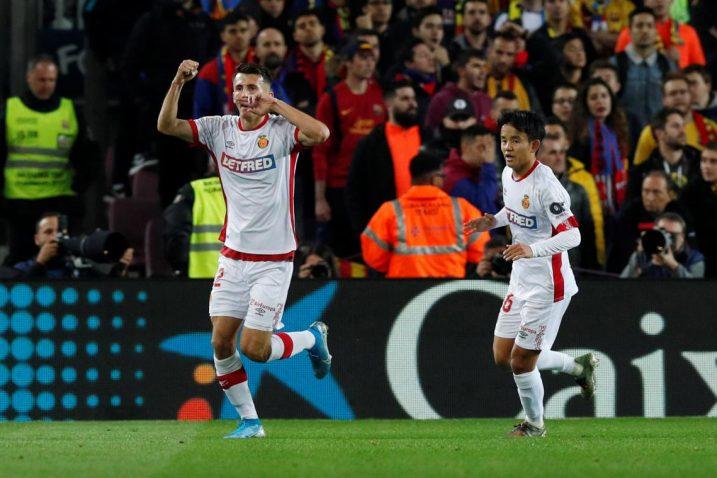 Ante Budimir zabio je oba pogotka za Mallorcu/Foto REUTERS