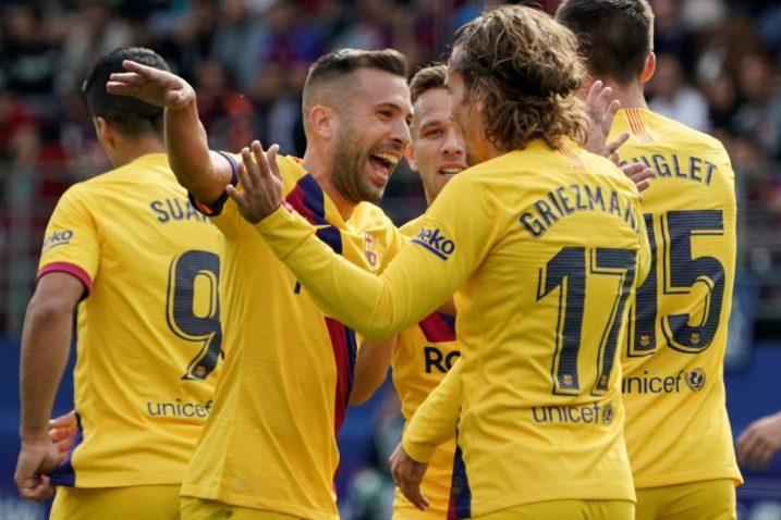 Za Barcelonu su zabijali Griezmann, Messi i Suarez/Foto REUTERS