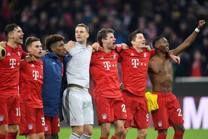 Igrači Bayerna slave pobjedu/Foto REUTERS