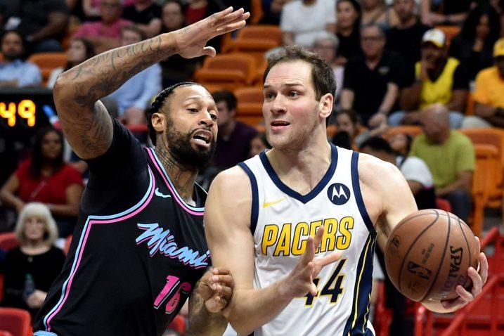 James Johnson (Miami) i Bojan Bogdanović (Indiana Pacers)/Foto REUTERS