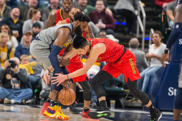 Tyreke Evans (Indiana Pacers) i Jeremy Lin (Atlanta Hawks)/Foto REUTERS