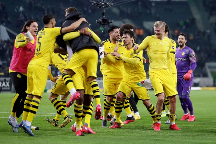 Igrači Borussije Dortmund slave pobjedu/Foto REUTERS