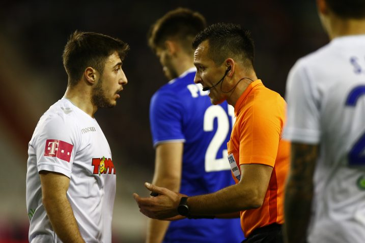 Josip Juranović i Ivan Bebek tijekom derbija s Dinamom/Foto PIXSELL