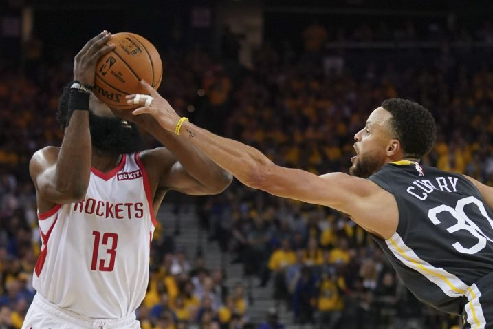 James Harden (Houston) i Stephen Curry (Golden State)/Foto REUTERS