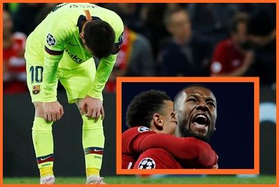 Leo Messi tuguje, a Georginio Wijnaldum slavi veliki trijumf/Foto REUTERS