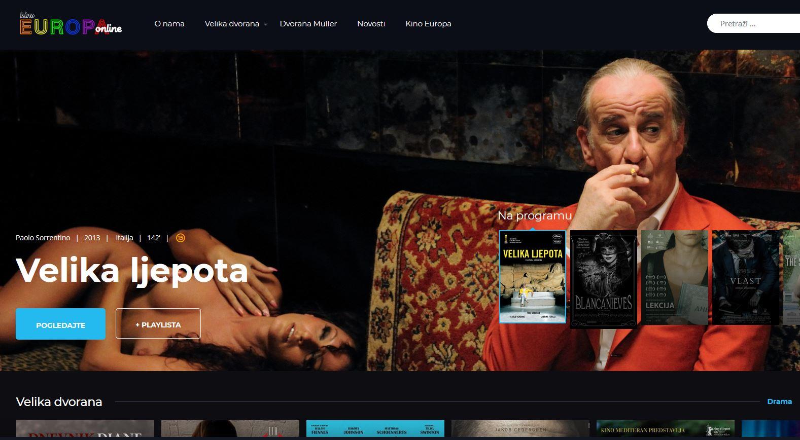 Kino Euopa online / www.kinoeuropa.hr