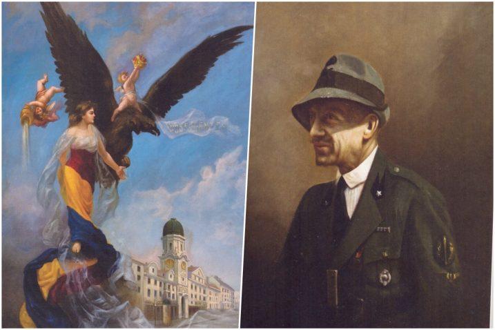 G. Butković: »Slava Rijeke«, 1905.; Osvaldo Moro: Gabriele d'Annunzio, ulje na platnu