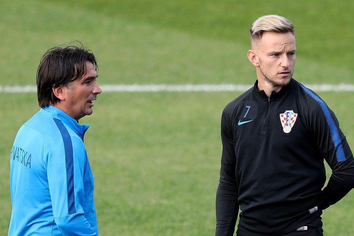 Zlatko Dalić i ivan Rakitić/Foto PIXSELL